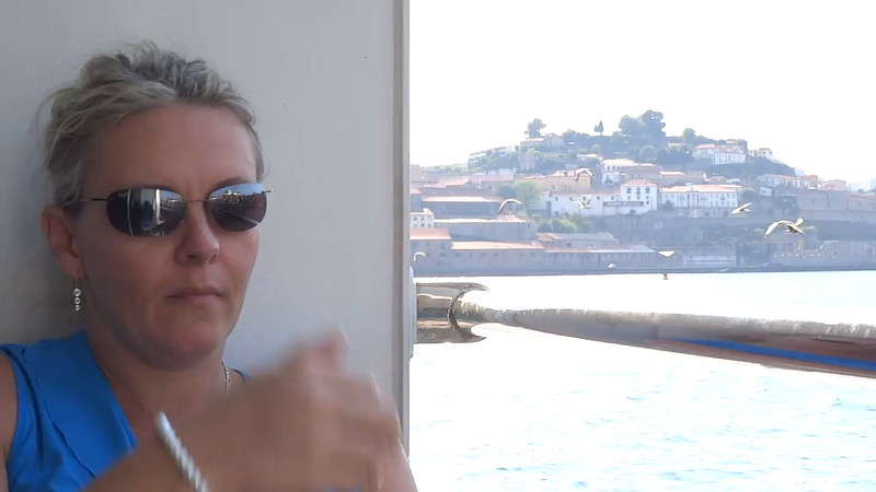 "Well, after a couple of days getting acquainted with ""Porto"" & ""Vila Nova de Gaia"" it was time to start sailing the Douro River... here's a little video of our beautiful sail-away we experienced! :-)"