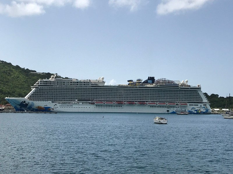 "There's a look at the ""Norwegian Escape"" which was our home for the week in the Caribbean... with 4,200 guests onboard it's the biggest  ship we've been on in a while so it took some getting used to the crowds (lately we've been doing lots of River Cruises with 30-150 guests onboard & small luxury ships)  but you can't beat the entertainment options onboard... there's truly something for everyone & every age to enjoy on the big ships!"