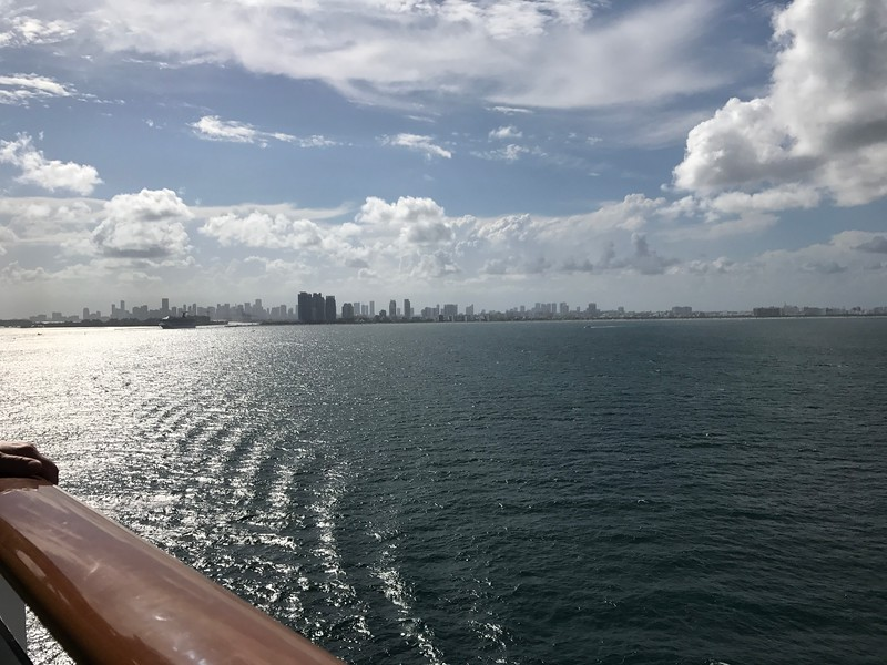 "As mentioned in the last pic, we sailed from Miami... BUT, due to Hurricane ""Harvey"", the morning we boarded we found out we were doing a 3 stop Eastern Caribbean itinerary rather then the 4 stop Western Caribbean itinerary we booked which is why we ALWAYS remind our clients to not be too dead-set on the itinerary you book if Cruising the Caribbean between June-November during Hurricane Season as Mother Nature may have other plans for you! :-)"