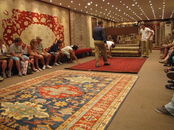 No visit to Turkey would be complete without a Carpet demonstration... if you're in the Market for a Carpet, Turkey is the place to get one!!  And the Turkish Government will even Ship it home to you for Free!! :-)