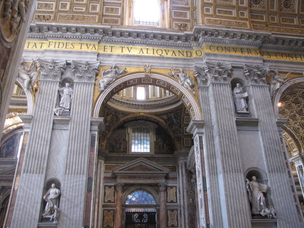 The structures and design in the Basilica were pretty amazing and impressive to say the least!