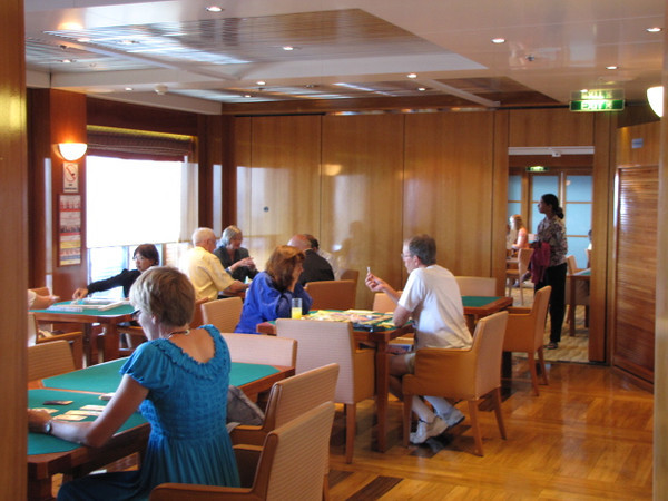 If you like cards/bridge/doing a puzzle, etc. there's a couple of Card Rooms to enjoy those peaceful activities.