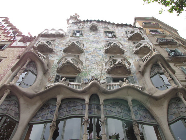 "Speaking of Famous Artists, there's the outside of ""Gaudi House Museum""."