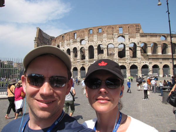 There it is, the  Famous Colosseum in Rome... wait till you see her from the Inside!