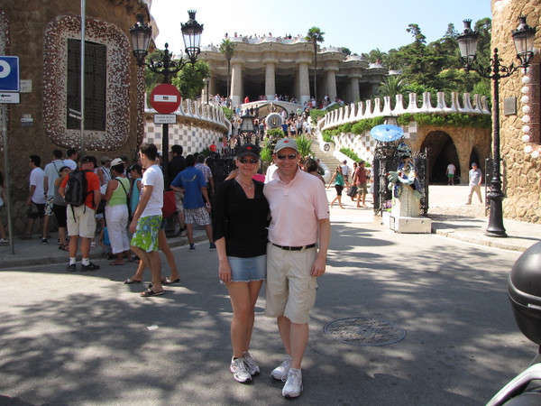 "Another of Gaudi's Famous creations in Barcelona is ""Park Guell""... so of course we had to go take a look! :-)"