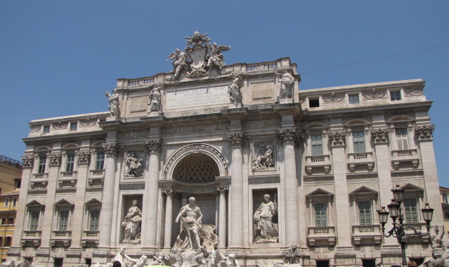 """There's the Famous """"Trevi Fountain"""" in Rome.  They say if you throw coins in a return visit to Rome is guaranteed.  When you see the crowds there and realize that almost every tourist in Rome visits there you know everyone wants to go back. :-)"""