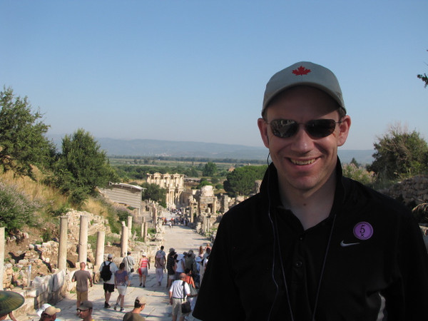 There's Shawn with Ancient Ephesus behind him... make sure to check out this gem when in Kusadasi or Izmir, Turkey!!