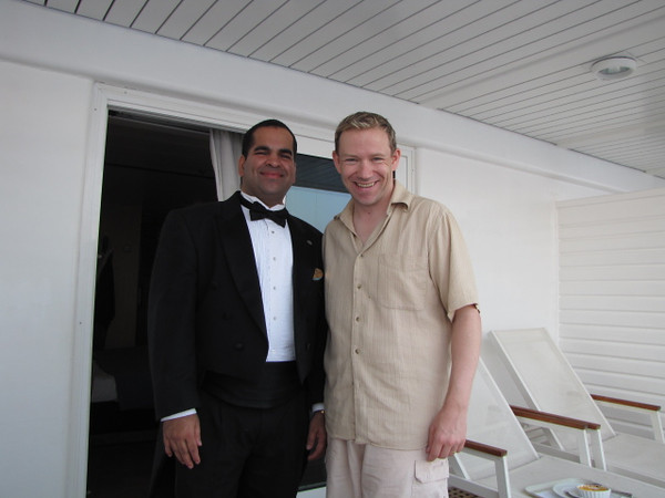 We couldn't go home without capturing a memory of our great Butler (included with all Suites on Century) Wilfred... he certainly made our time in the Mediterranean and on the Century special!!