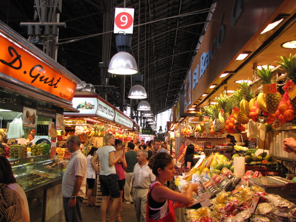 "There's a glimpse into ""La Boqueria"".  Make sure to go on an empty stomach!! :-)"