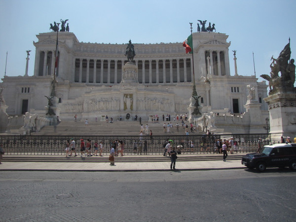 Can't remember the name of it but here's one of the Government buildings in Rome... not bad Architecture!! :-)