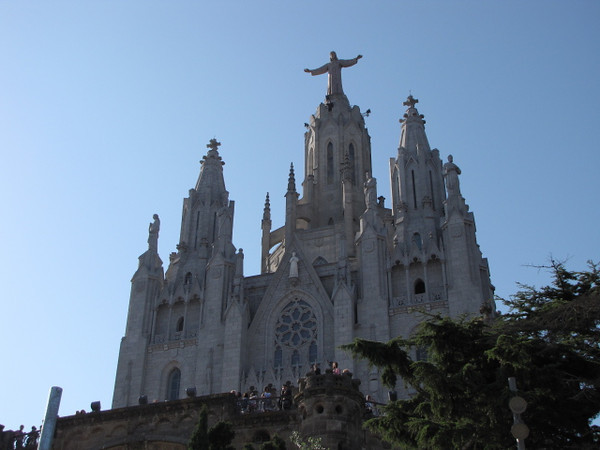 "The best views of all in Barcelona though are definitely up on ""Tibidabo Mountain""!!  Here's the Church that sits high above it all up there."
