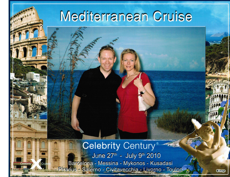 Here we are about to board our 1st ever Mediterranean Cruise... we're Happy!! :-)