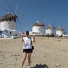 One of Mykonos' most recognizable sites... the Windmills just outside of Downtown