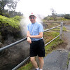 "Our 1st stop during our 7 Night sailing was in ""Hilo"" on the ""Big Island"" of Hawaii... as ""Hawaii Volcanoes National Park"" is only 1 hour from the port, we just had to go visit to get our 1st ever up close look at a Volcano.<br /> <br /> There's Shawn standing on top of one of the world's most active Volcanoes, ""Kilauea"", and as you can see, she's ""steaming""! :-)"