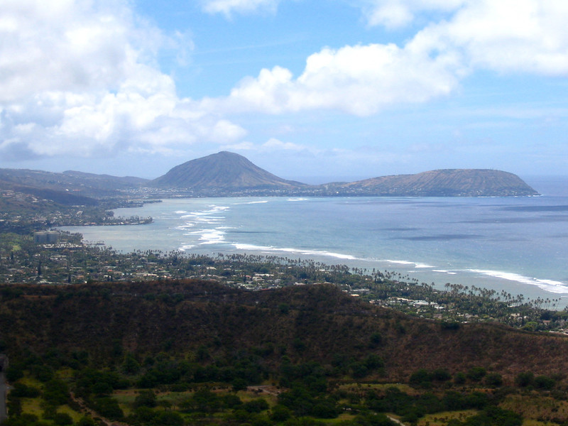 There's some more Gorgeous views of Oahu we saw from Diamond Head Crater.