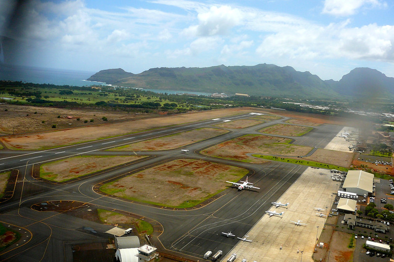 "Here we are taking off from Lihue airport on our Helicopter tour that we took with ""Blue Hawaiian"" tours. We chose them because they taped our whole ride ""Live"" with their 4 on board cameras. What a great souvenir it turned out to be!"