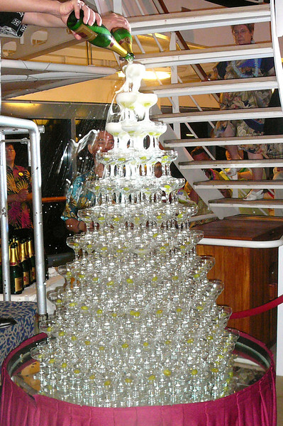 "Speaking of Princess' ""Champagne Waterfall"", there it is!! Always a favorite event for us on the 4 Princess Cruises that we've been on!!"