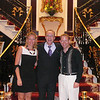 """There's Pacific Princess' Cruise Director, Peter, and us saying our good-byes in the Atrium. Peter was in charge of all the Entertainment on board """"Pacific Princess"""" when we sailed and he and his whole team did a great job!!"""