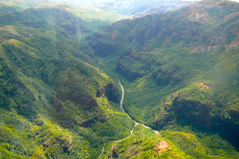 Kauai has huge amounts of Rainfall every year which explains why it's so lush there. Check out these Beautiful Mountain areas.