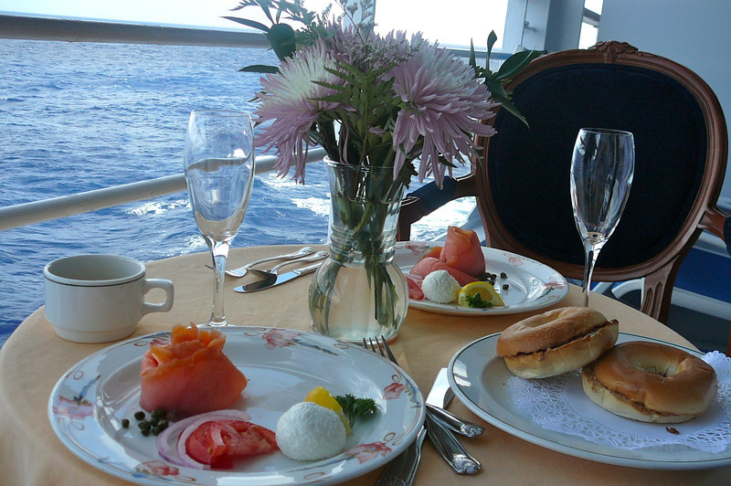 Smoked Salmon, Cream Cheese and Bagels to start the day... what else could you ask for?
