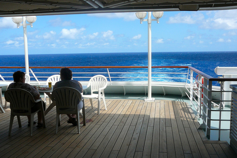 "One of our favorite eating spots was the Outdoor dining venue at the Back of the ""Pacific Princess"". We had Breakfast out there every morning.. Very, very nice!! :-)"