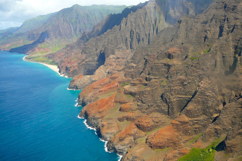 "The ""Na Pali Coast"" was breathtaking when we Cruised by it last year on our NCL Cruise and it was just as stunning as we explored it from high above the Ocean."