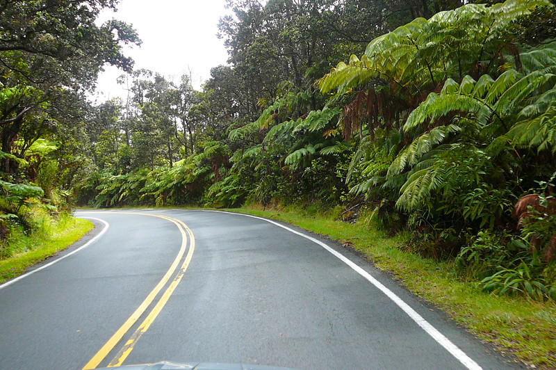 If you have the chance to visit Volcano National Park on the Big Island make sure to take the drive down Crater Rim road to the Ocean. It's a fun, winding drive that takes you down thousands of feet and offers Beautiful scenery like this one.
