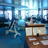 To help burn off one of each day's half dozen meals (we're only being slightly sarcastic) every ship always has a great Gym with all the amenities. And there's never a Membership fee to pay like on Land!! :-)