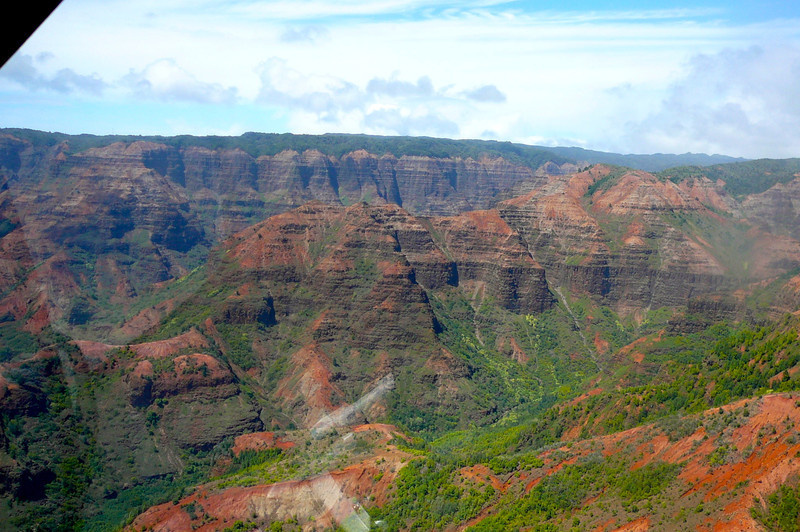"""Here's a shot of a small portion of Kauai's famous """"Waimea Canyon"""". The largest in the Pacific that Mark Twain called, """"The Grand Canyon of the Pacific""""!"""