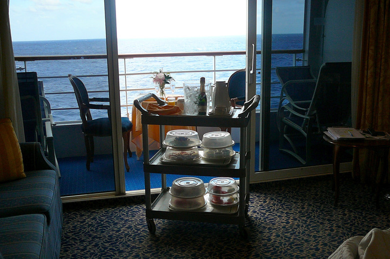 We told you to do the Private Balcony Dinner experience next time you sail with Princess. Make sure to do the Balcony Breakfast too... it was Amazing!!