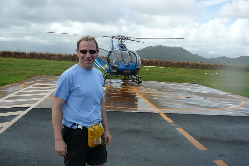 Shawn definitely looks like he had lots of fun on our Helicopter tour in Kauai.