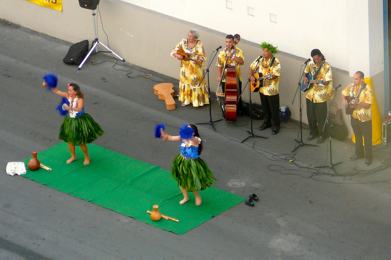 "What arrival in Honolulu would be complete without Hawaiian Dancers to greet you... ""Aloha""!! :-)  Thanks for the great Honeymoon Cruise ""Pacific Princess""... you gave us a trip we'll cherish for a lifetime!!"