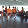 "And here's a video of some of the male staff onboard showing us what a traditional game of ""Rattan Ball"" is like."