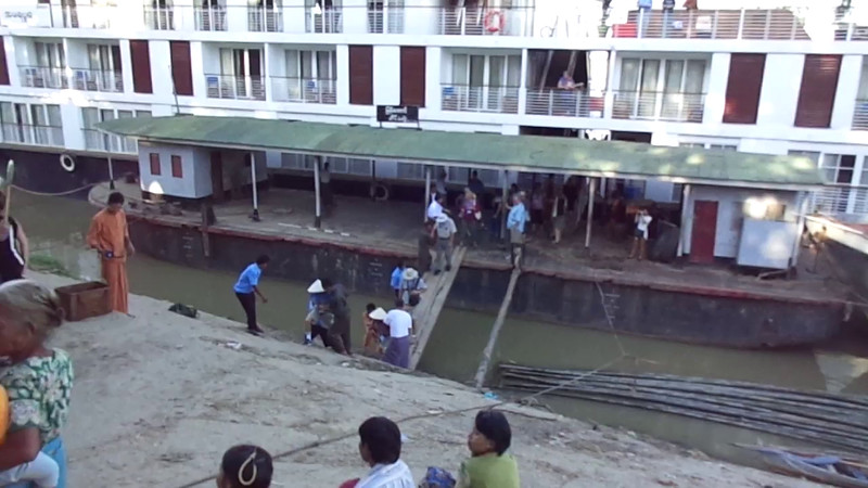 One thing we always let our clients know when River Cruising in Asia is you don't usually pull into ports like you would on a Caribbean/European/Alaska Ocean Cruise... if you're in a wheelchair or have a cane it's not a great area to visit as in many places you pull into port and walk up hills, dirt paths, etc. Check out this video to see an example.