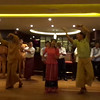 One night onboard the crew did a show for us where they sang traditional Myanmar songs and did their dances, etc. For sure different then the music & dancing we're used to but overall it made for a very fun evening! :-)