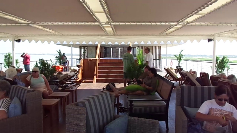 Here's a video of Nancy showing you around the Sundeck to give you a feel of what it's like to enjoy some sailing time while taking a River Cruise.