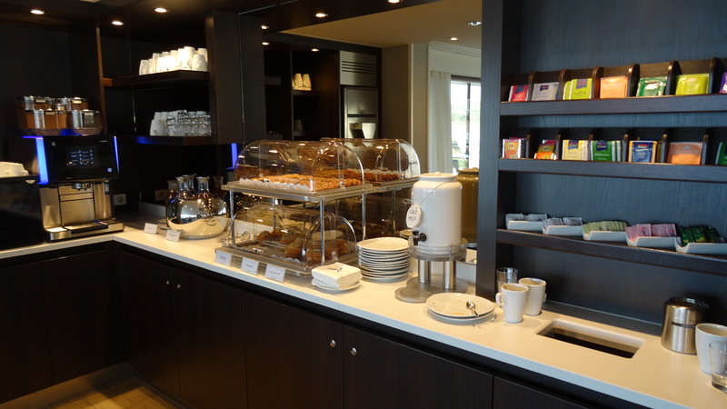 If the main restaurant & main lounge dining isn't enough choices for you there's always some snacks & tea/coffee available 24hrs a day at the back of the ship lounge which is another great place to socialize, read a book, check out the beautiful views, etc.