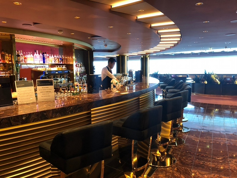 "Speaking of our private ""Top Sail"" Lounge, this is what we're referring to... on deck 16 we were able to enjoy a beautiful QUIET, exclusive setting where..."