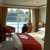 Above is a video of our 170 square foot top deck Category A French Balcony stateroom.<br /> <br /> FYI, besides the few suites all the rooms on the middle & top decks are identical to the above room... if available, book a top deck room as we did as the views are best up there and it's more private when you're docked as it's above the street level.