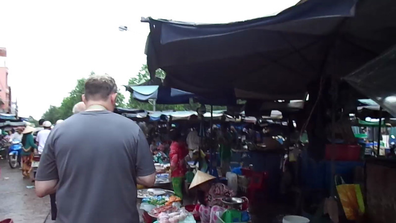 "Another super fun thing we did along the River was hopped off to check out a local market... definitely some foods we're not used to! :-)<br /> <br /> Check out this ""Live"" footage to see what a local Vietnamese market looks like."