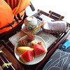 And there's a peek at the fresh fruit & tea they served us another day... we were definitely treated well!! :-)