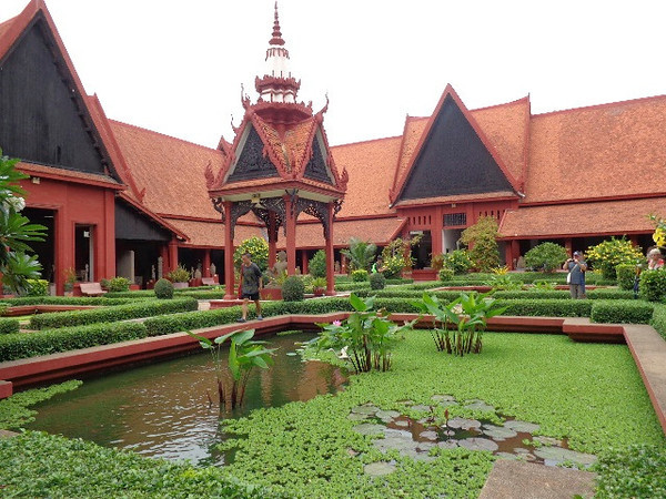 "Another highlight in Phnom Penh was visiting the National Museum which houses one of the World's largest collections of ""Khmer Art""... and as you can see above, they have a Beautiful garden area to enjoy when there as well!"