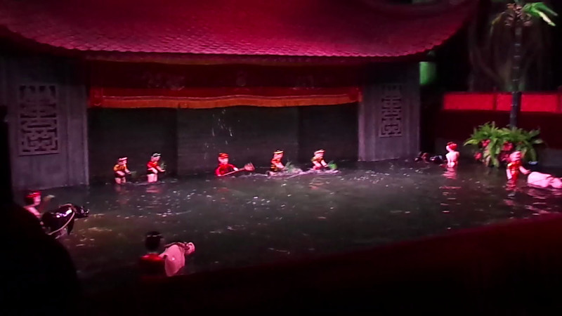 "Also while in Hanoi we experienced a very unique event, the ""Thang Long Water Puppet Show"". It was created by the Rice Field farmers back in the 11th Century as entertainment for when the fields flooded each year... very innovative! :-)"