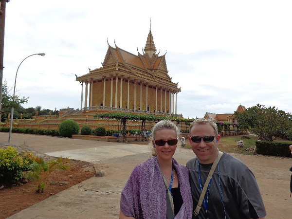 One thing Vietnam & Cambodia certainly knows is how to build a Beautiful temple... there's one of the several magnificent temples we had a chance to visit while enjoying our time along the Mekong River.