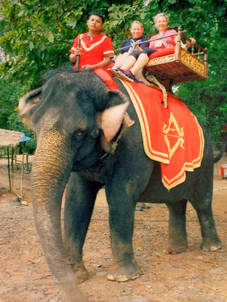 Before visiting the highlight of Cambodia (the Angkor Wat Temples area) we got up really early that morning & enjoyed a Cambodian Sunrise followed by taking our 1st ever Elephant ride... yep, it was definitely a big highlight of our time in this Beautiful part of the World! :-)
