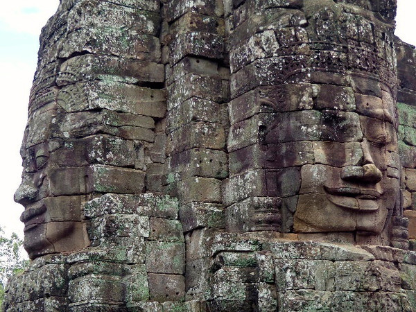 There's a couple of the over 200 faces that inhabit Angkor Thom... they were truly fascinating to see in person!