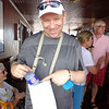There's Shawn showing you a classy Uniworld touch & why they're one of the highest rated River Cruiselines out there... not only do you get free water for each excursion but also a water bag to keep the water cool.<br /> <br /> Beyond this we got lots of cold cloths, fruit treats, tea & other treats during our daily tours.