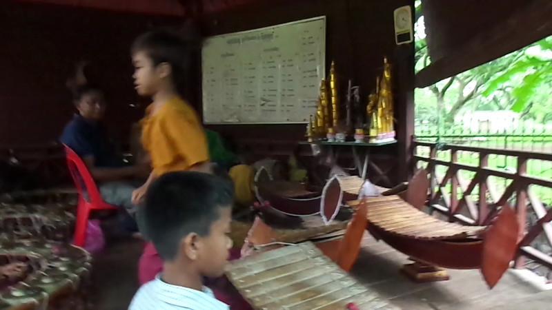 During our Tuk Tuk tour in Siem Reap we visited a local dance & music school. That was a great experience as we brought a ton of school supplies to the kids (it's amazing how far $100 at the dollar store goes!) who were super happy to accept our gifts... it was really nice! :-)