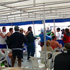 The nice part about the Catamaran excursion is there's a great lunch and Free Booze included. The bad part is the Mexican Beer always inspires someone to start a Conga Line. :-)