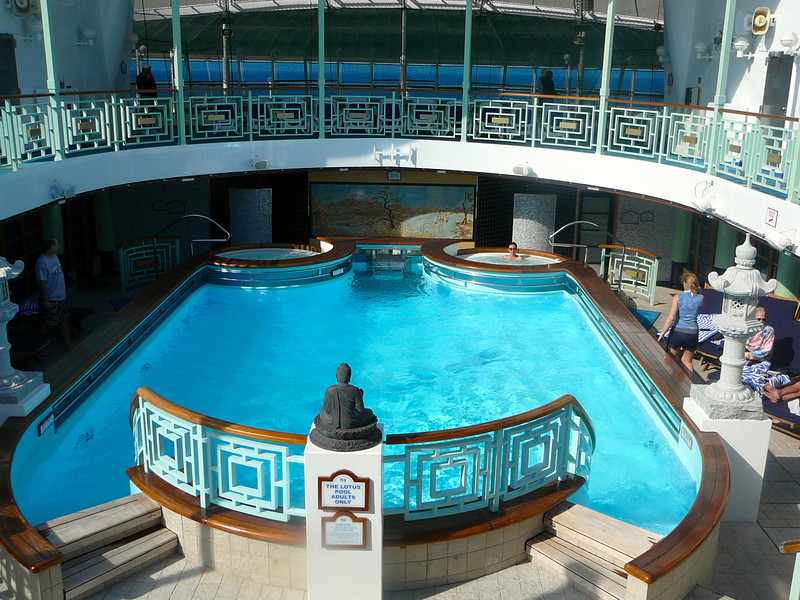 "Next time you sail on Princess make sure to check out the ""Lotus Spa"" pool... it's super quiet and relaxing... there's no better place to sit back, read a great book and take in the day."